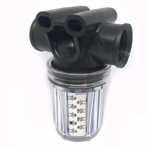 """3/4"""" CLEAR GLASS BOWL IN-LINE FILTER (KM)"""