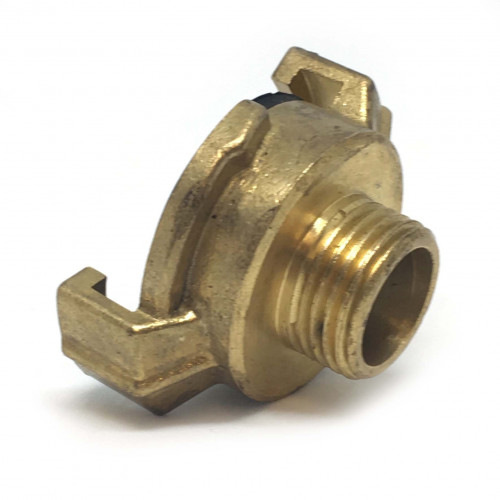 """BRASS CLAW QUICK COUPLER WITH 1/2"""" MALE THREAD"""