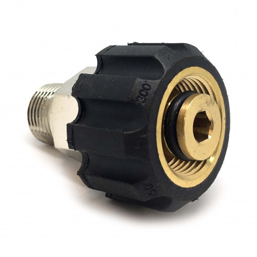 22MM SCREW COUPLING 3/8 MALE THREADS