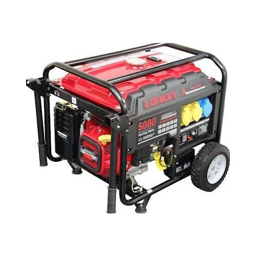 LONCIN  4KW GENERATOR AVR E/START WHEEL KIT L/RUN TANK