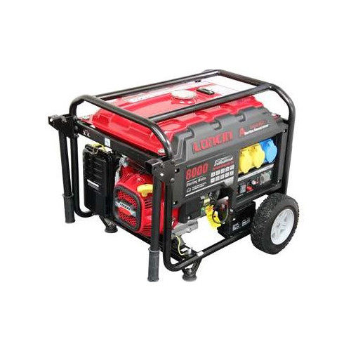 LONCIN LC8000D-AS 6KW GENERATOR E/START -AVR-L/RUN TANK - WHEEL KIT