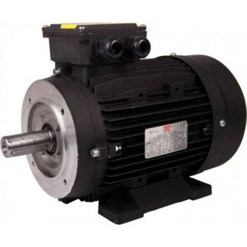 TEC 15KW-20HP IE2 Cast Iron Motor 4 Pole Solid Shaft