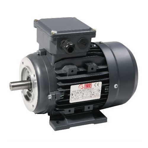 TEC 3 KW Single Phase 4 Pole Motor L100 B14 Solid Shaft Cap/Cap