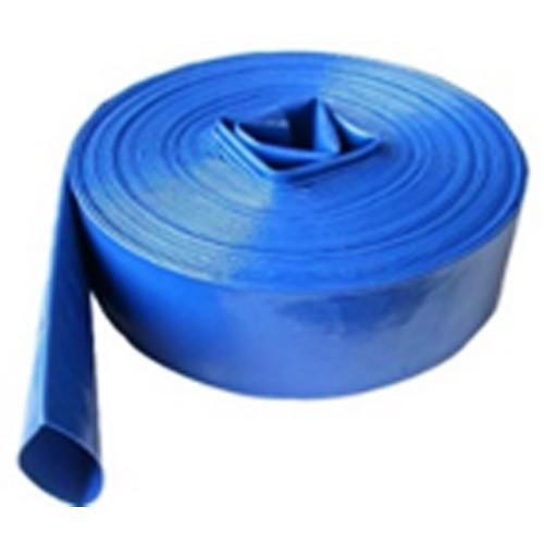 """1"""" 3 BAR LAYFLAT HOSE BLUE 50M"""