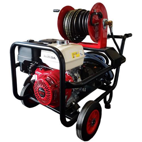 HONDA GX 390 13HP P'WASHER TROLLEY C/W REEL