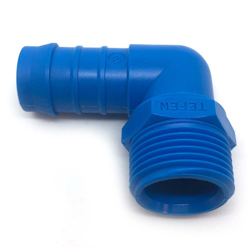 "3/4"" x 1"" BARB PLASTIC 90 DEGREE HOSE TAIL"
