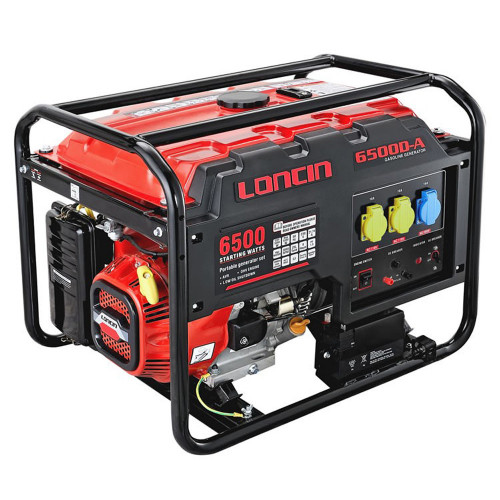 LONCIN LC6500D-A 5.5KW GENERATOR E/START AVR L/RUN - WHEEL KIT