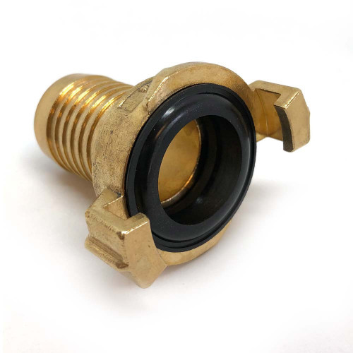 """BRASS CLAW QUICK COUPLER WITH 1"""" HOSE TAIL"""